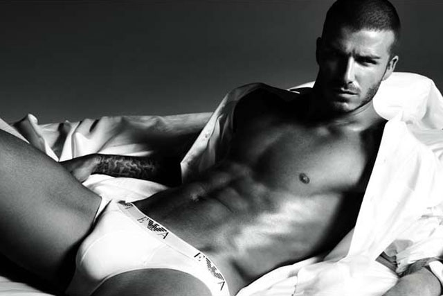 Armani: campaigns include underwear ads featuring David Beckham