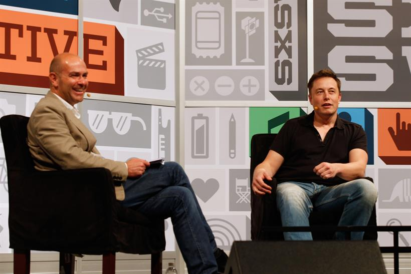 SXSW: former Wired editor-in-chief Chris Anderson (left) speaks to Elon Musk. Credit: Getty Images