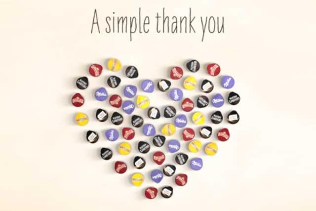 Tassimo: runs thank-you campaign