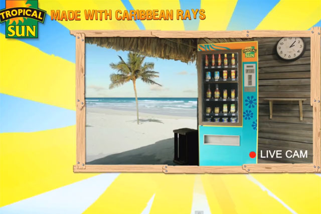 Tropical Sun: interactive campaign features branded vending machine