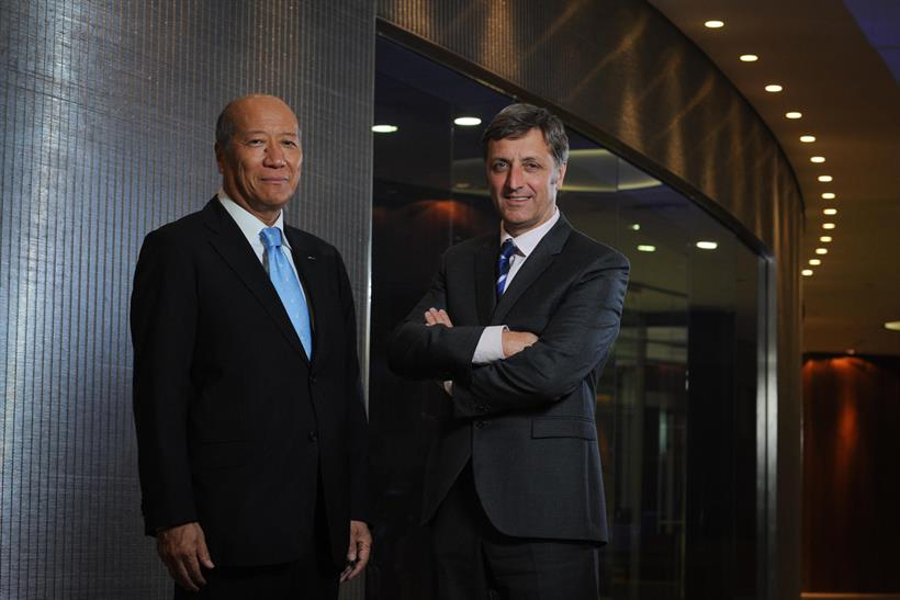 Tadashi Ishii (l) and Jerry Buhlmann: the Dentsu and Aegis leaders will look to expand globally