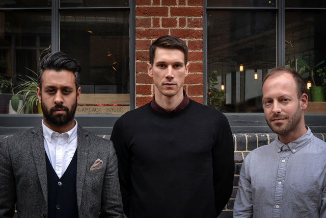 AnalogFolk London: from left, Vikesh Bhatt, Seth Jones and Steve Whittington