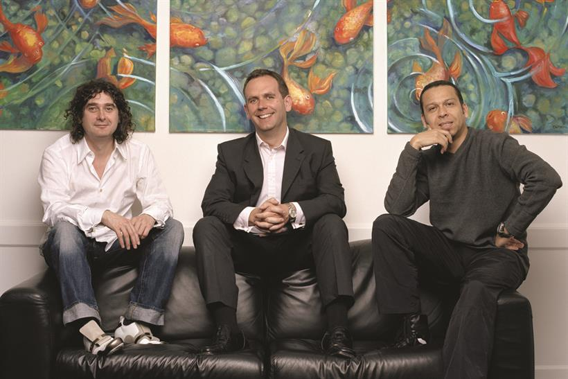 BMB: (left to right) Beattie, McGuinness and Bungay left TBWA in 2005 to launch the agency