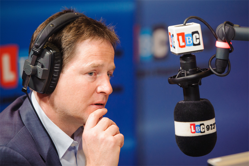 Clegg: LBC, on which the Deputy Prime Minister hosts a weekly show, posted year-on-year growth