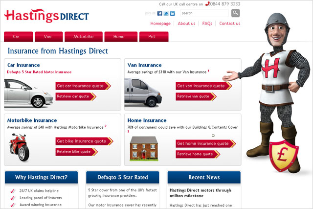 Hastings Direct: kicks off pitch