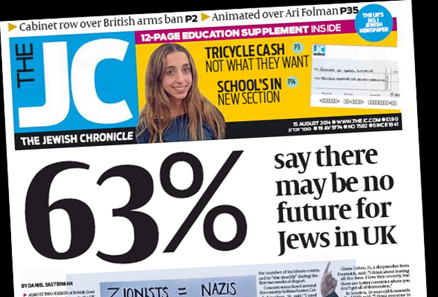Jewish Chronicle: newspaper issues apology for publishing Gaza appeal ad
