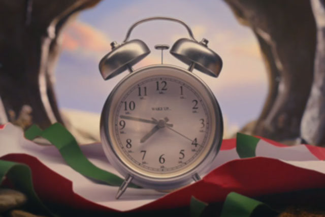 John Lewis: the twin-bell alarm clock as featured in the retailer's Christmas ad