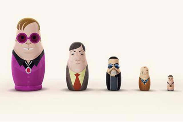 Gay icons: Mother protests against Russian homophobia with distinctive nesting dolls