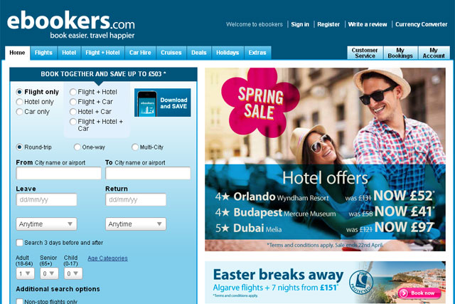 Ebookers: appoints Quiet Storm to its pan-European ad account