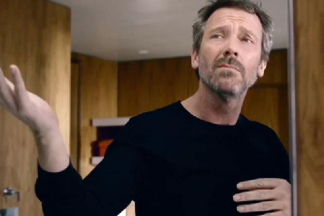 Hugh Laurie: stars in L'Oréal Paris Men Expert spot