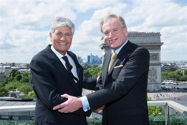In hindsight: Lévy and Wren shook hands last July to announce the merger