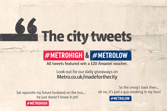Metro: launches a Twitter campaign