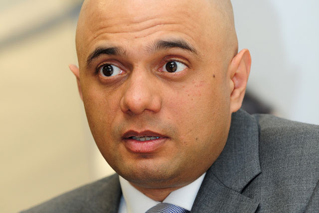 Sajid Javid: replaces Maria Miller as culture secretary