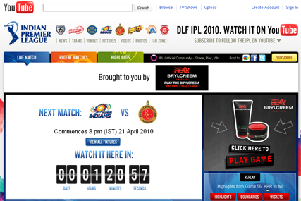 IPL Cricket: boosts YouTube audience figures
