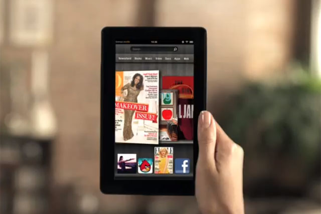 Amazon: moved into the tablet market with the launch of the Kindle Fire last year