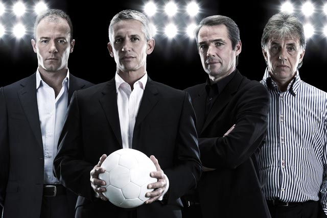 Match of the Day: presenter Gary Lineker with fellow MOTD football pundits