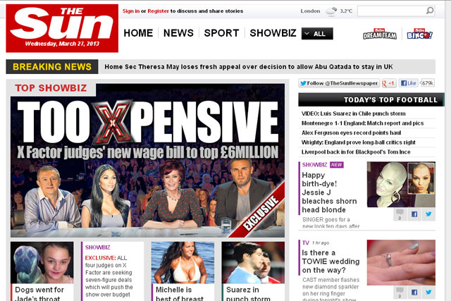The Sun: to go behind a paywall in August