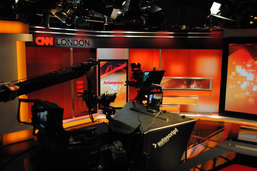 CNN studio in London