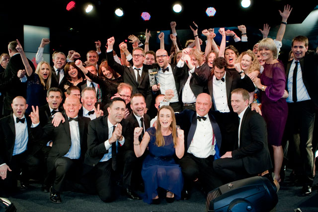 ITV celebrate winning at Media Week Awards 2013