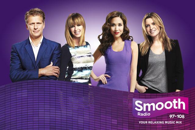 Smooth Radio: presenters Andrew Castle, Kate Garraway, Myleene Klass and Tina Hobley
