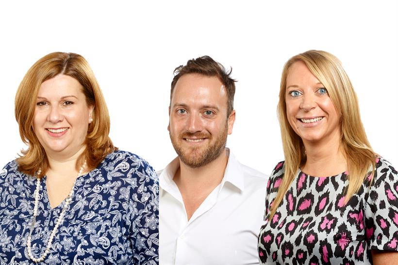 Bauer Media restructure: (from left) Lister, Wilson, Ford