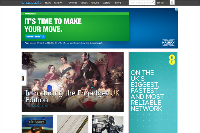 Engadget: AOL launches UK edition of online magazine
