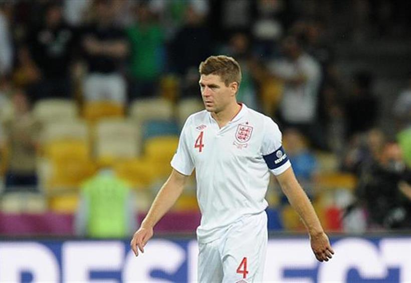 Dejected: England's Steven Gerrard