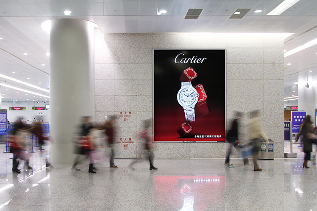 Airport advertising enhances a brand's standing as a global player