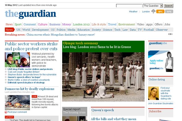 Guardian News & Media: 17 AOP nominations