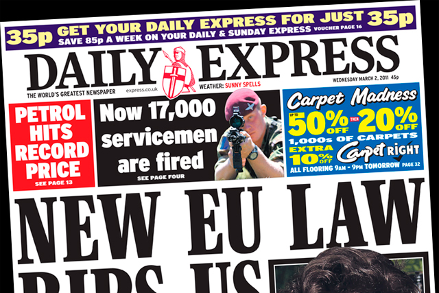 The Daily Express: chastised by the ASA