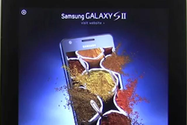 Samsung: 3D interactive iPad ad for the Galaxy SII smartphone goes live