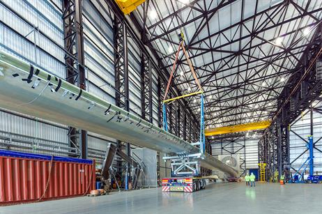 Currently, the 88.4-metre component is the world's longest offshore wind turbine blade