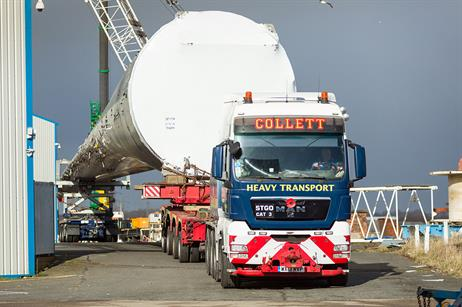 LM Wind Power's 88.4-metre blade is in Blyth for testing