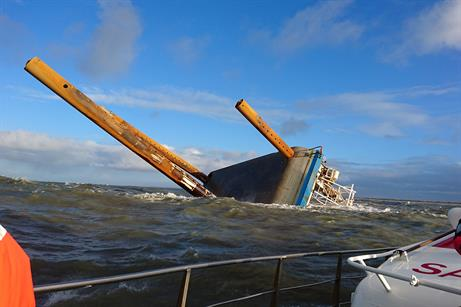 A2Sea's Sea Worker vessel has capsized off the coast of Denmark