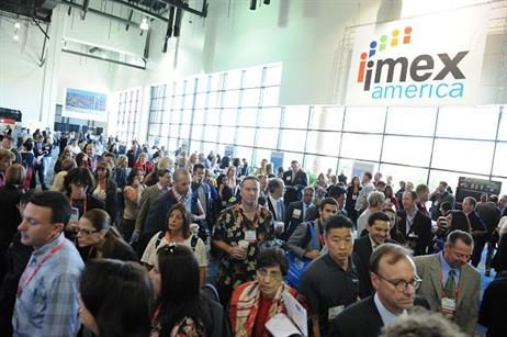 Delegates prepare for the first day of Imex America in Las Vegas, held on 9-11 October 2012.
