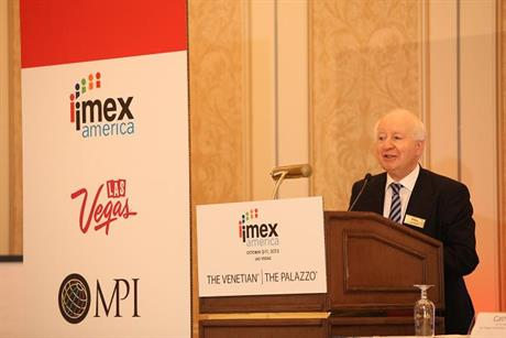 Imex Group chairman Ray Bloom shares insights with delegates at Imex America 2012 in Las Vegas.