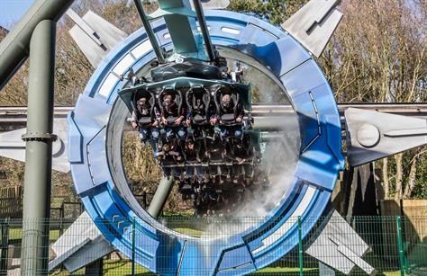 Alton Towers rollercoaster launch