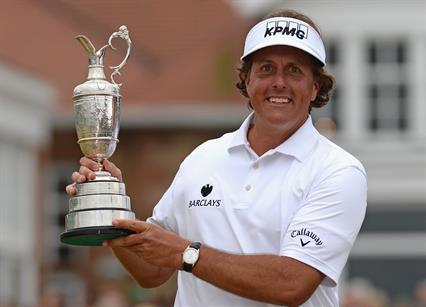 Phil Mickelson wins golf's Open Championship 2013 golf at Muirfield, Scotland