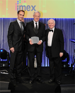 BVEP's Michael Hirst gets honoured at Imex.