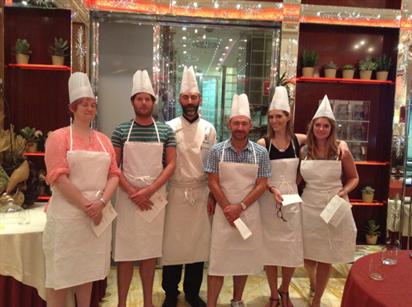 A cooking class at Hotel Principe di Savoia, Milan. The Italians do great food, if you hadn't heard.