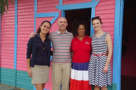 C&IT's news editor Alison Ledger visits a traditional Dominican home with Site president Paul Miller and the Dominican Republic's director Patricia Perez