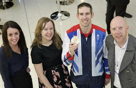 The One Show's Lucy Siegle, Positive Impact's Fiona Pelham, Olympic Gold medallist Etienne Stott and Smyle's Rick Stainton