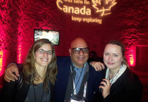 C&IT's Christy McGhee joins attendees at the Canadian Tourism Commission networking during EIBTM 2012 in Barcelona