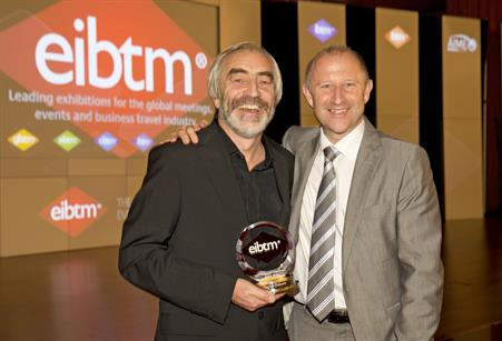 MCI Group vice-president of industry relations Patrick Delaney was presented with the EIBTM 2013 Lifetime Achievement Award