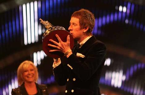 Bradley Wiggins scoops BBC Sports Personality of the Year 2012 during an awards ceremony at Excel London