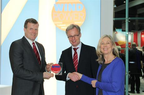 Nordex's N117/2400 turbine won Turbine of the Year Best turbine 2.1-3.5MW 2013.