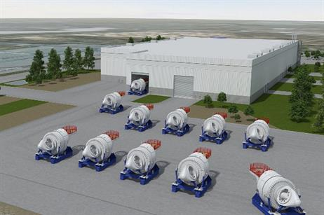 Once complete in early 2015 it will be the main Haliade construction plant