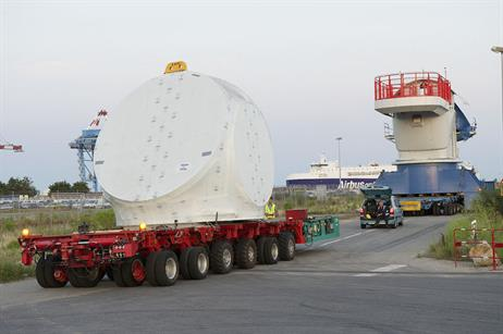 The Haliade turbines were moved to the Saint Nazaire plant