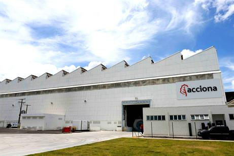 Acciona has opened a turbine assembly plant in Bahia, east Brazil