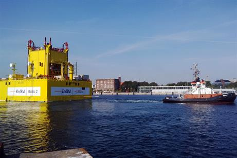 The substation for the 288MW Baltic 2 offshore project was installed in September